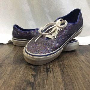 Vans Shoes - GLITTER PURPLE IRIDESCENT VANS